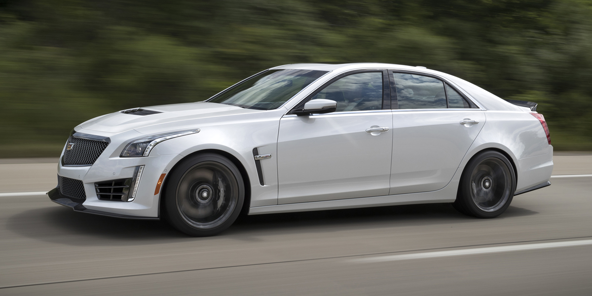 2017 Cadillac CTS-V super sedan with available Carbon Black spor