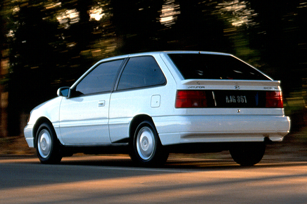 on 1991 hyundai excel hatchback