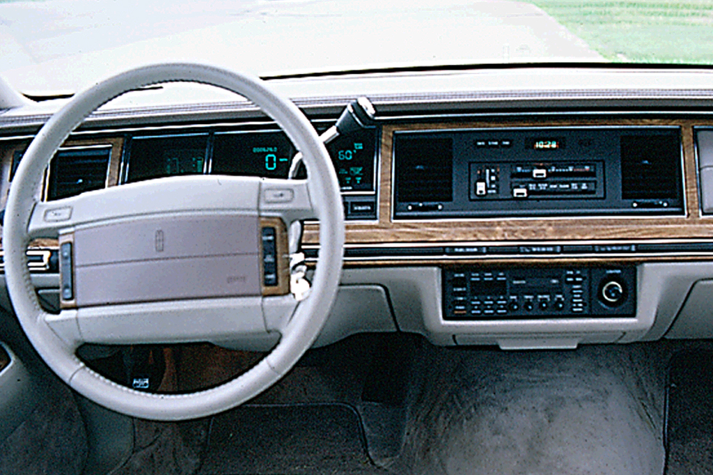 1990-97 Lincoln Town Car | Consumer Guide Auto on buick lacrosse wiring diagram, 1990 lincoln town car engine diagram, lincoln town car starter relay location, lincoln town car fuel pump relay, lincoln town car lights, 1998 lincoln town car engine diagram, lincoln town car fuse diagram, 1997 lincoln town car engine diagram, chrysler 300m wiring diagram, lincoln town car door, mercury milan wiring diagram, dodge challenger wiring diagram, ford aerostar wiring diagram, ford econoline van wiring diagram, pontiac trans sport wiring diagram, chevrolet volt wiring diagram, hyundai veracruz wiring diagram, lincoln town car belt diagram, chevelle wiring diagram, lincoln town car engine swap,