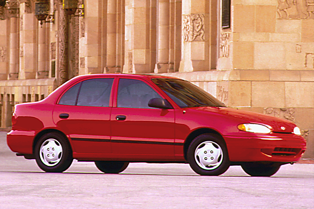 1997 hyundai accent 4-door sedan